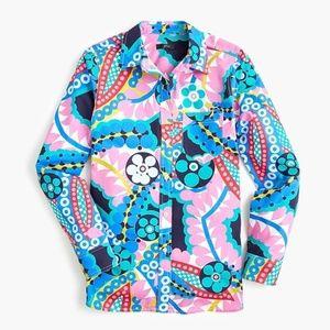 J. Crew Classic Boy Shirt Ratti Kaleidoscope Sz 10